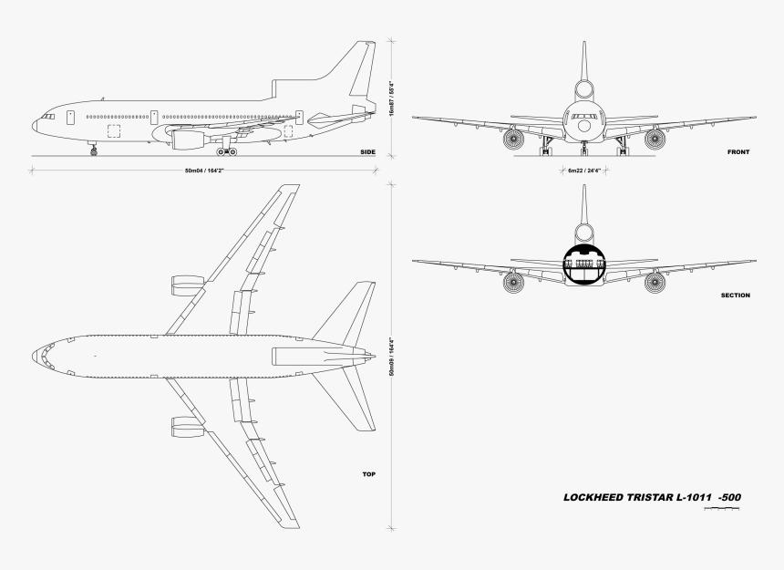 File - L1011v1 - 0 - A330 Blueprint, HD Png Download, Free Download
