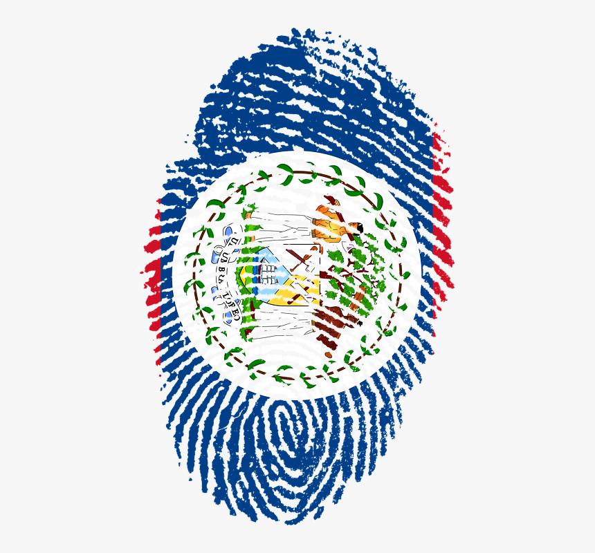 Belize, Flag, Fingerprint, Country, Pride, Identity - Belize Flag, HD Png Download, Free Download