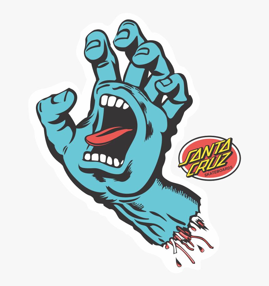 Santa Cruz Screaming Hand, HD Png Download, Free Download