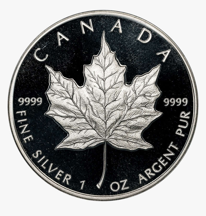 1989 Canada $5 Proof Anniversary Maple Leaf Km - 1989 Proof Gold Maple Leaf, HD Png Download, Free Download