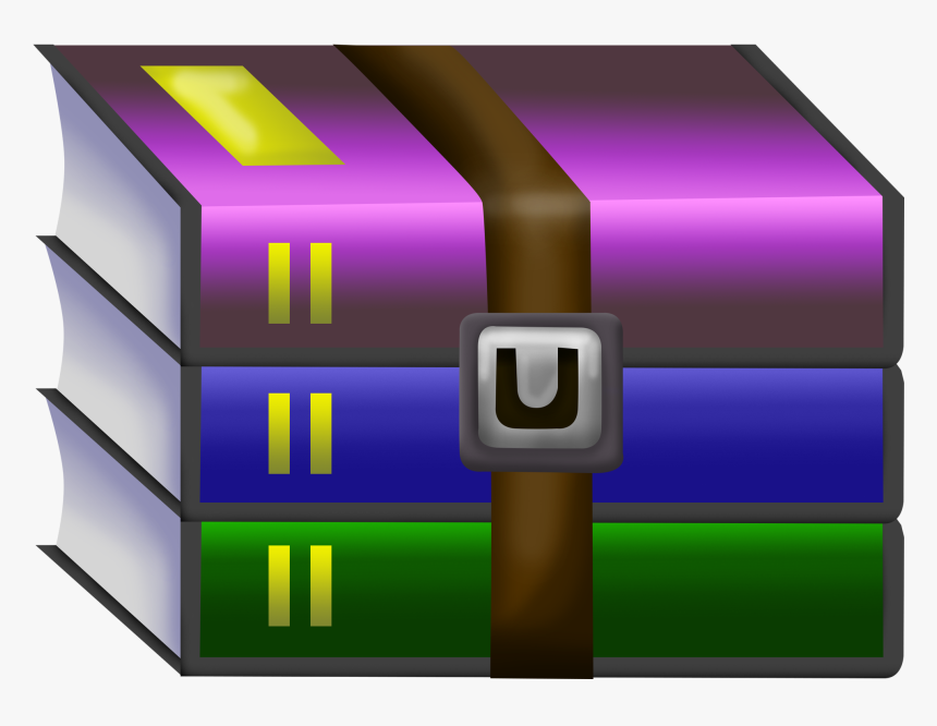 Compress Files Png - Winrar Icon, Transparent Png, Free Download