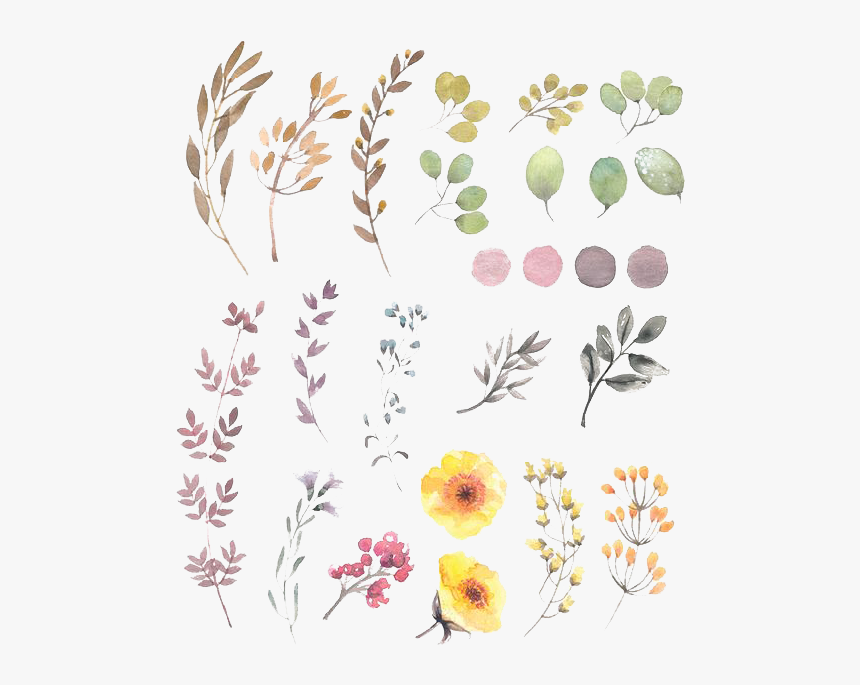 Flower Watercolor Design Floral Flowers Painting Drawing Flower Design Simple Watercolour Hd Png Download Kindpng