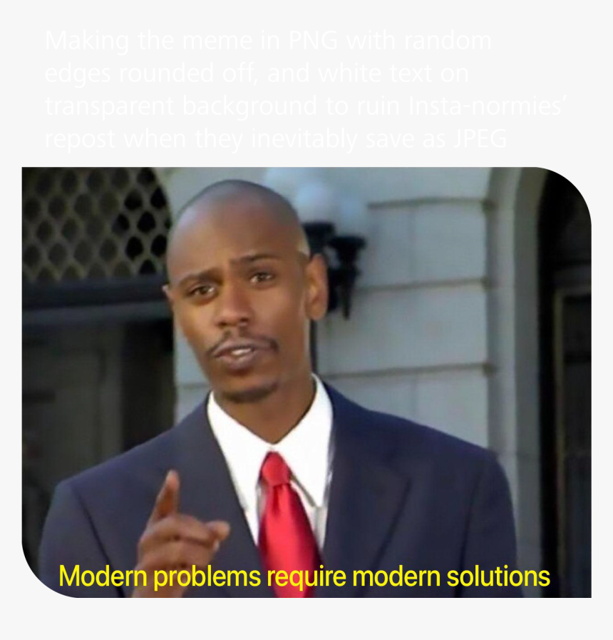 Use White Text On Transparent Background To Protect - Modern Problems Require Modern Solutions Template, HD Png Download, Free Download