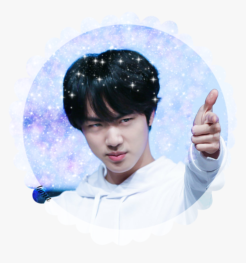 Sticker Seokjin Jin Png Snow App Bts Jin Jin Cute Face Transparent Png Kindpng