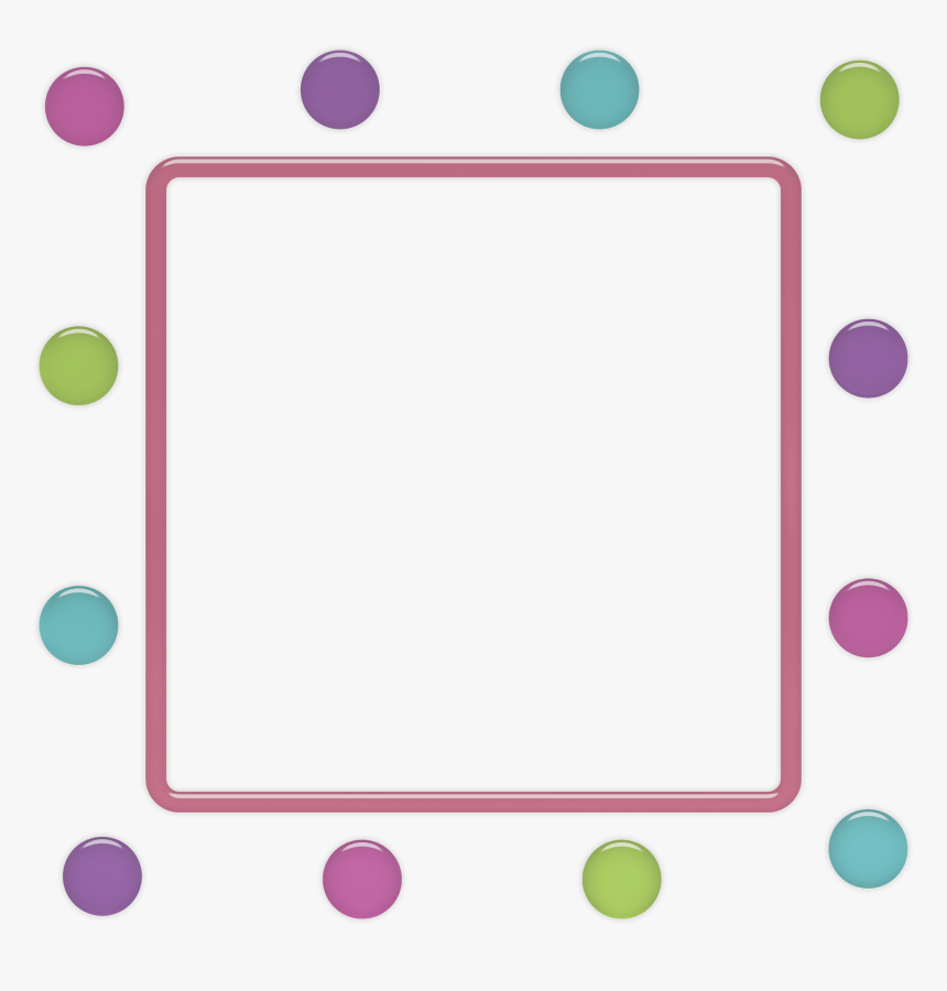 Funny Polka Dots - Png Clipart Purple Star Round Frame Transparent, Png Download, Free Download