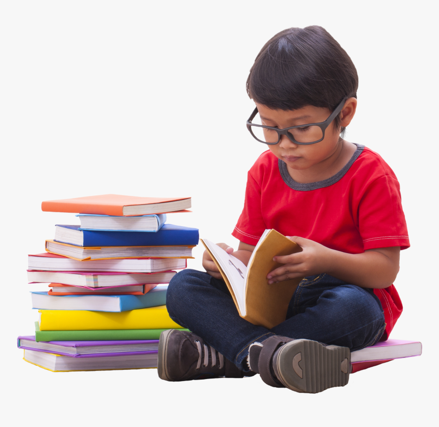 Transparent Person Reading Book Clipart - Boy Reading Book Png, Png Download, Free Download