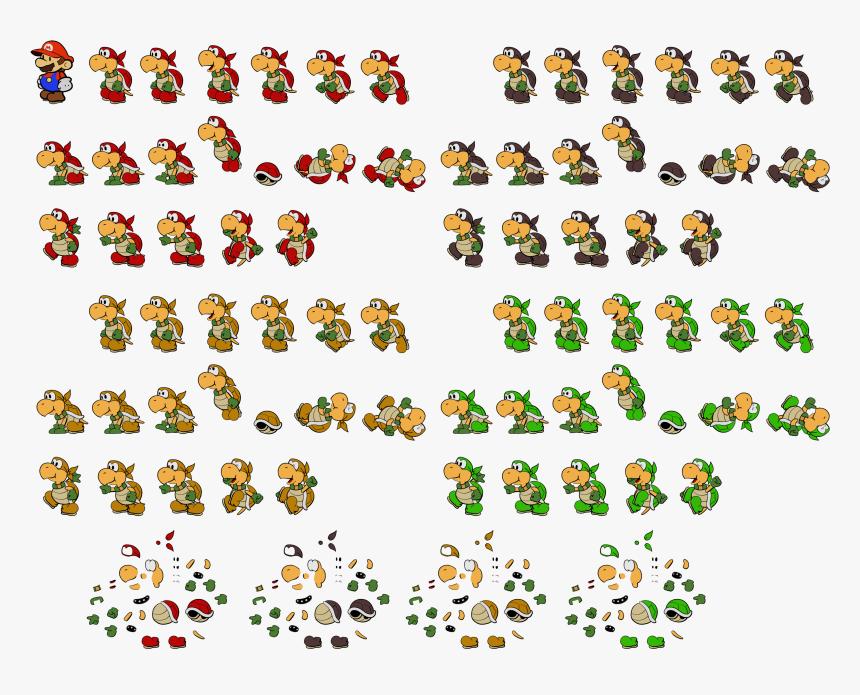 Mario Koopa Sprite Snes Png Mario Bros Koopa Sprites