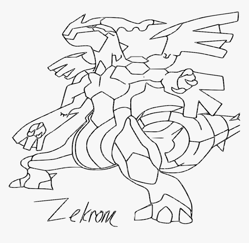 Coloring Pages Pokemon Zekrom Evolution Hd Png Download Kindpng