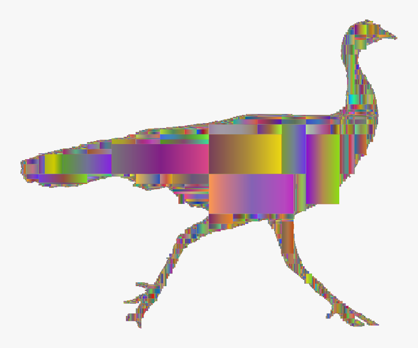 Wild Turkey Silhouette Rectangles, HD Png Download, Free Download