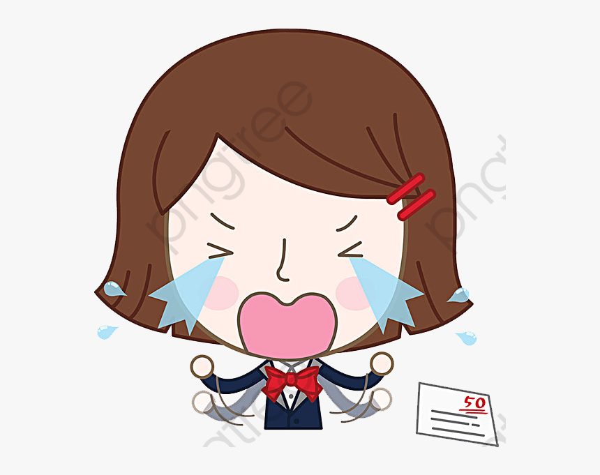 Crying Girl Png, Transparent Png, Free Download