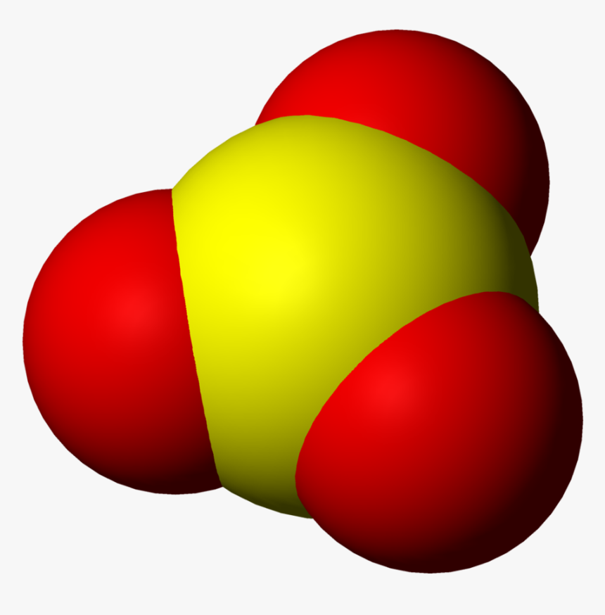 Space-filling Model Of Sulfur Trioxide, HD Png Download, Free Download