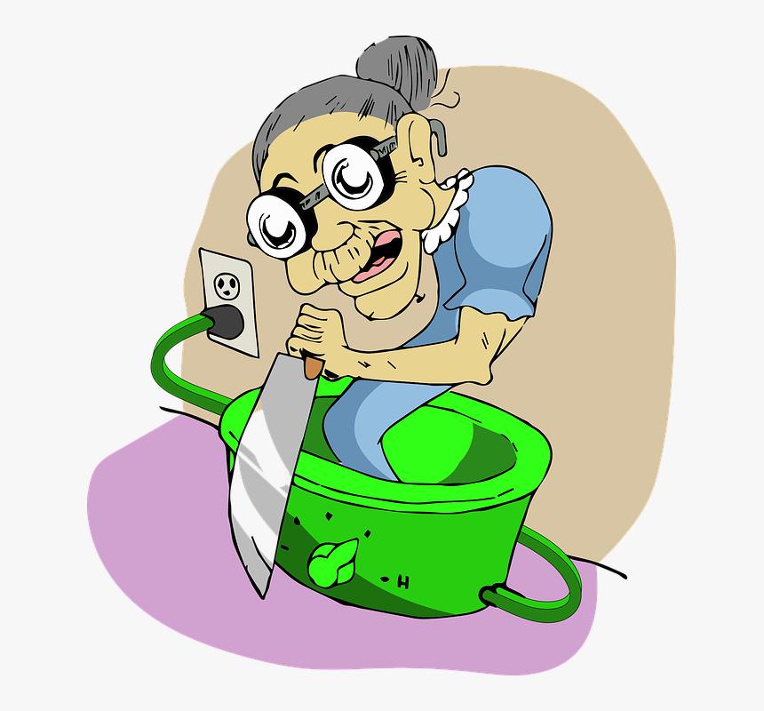 Granny, Ghost, Crock-pot, HD Png Download, Free Download