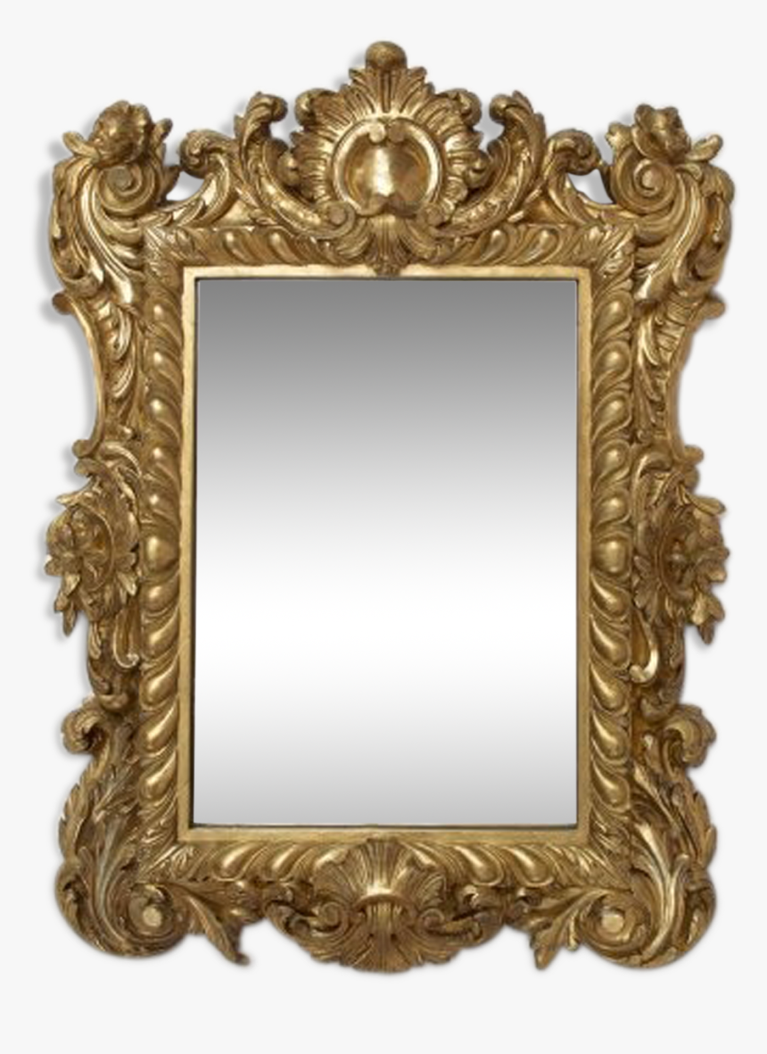 Mirror Wooden Gold Regency About Hd Png Download Kindpng