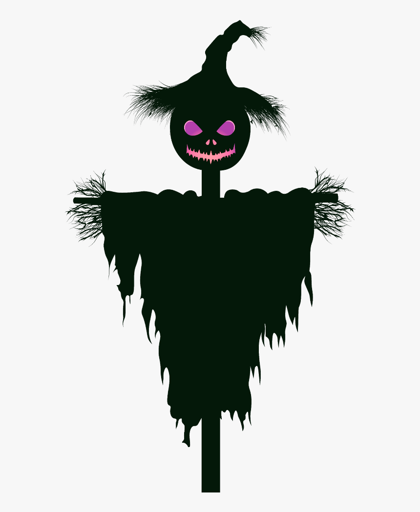 #mq #black #scarecrow #pumpkin #head #halloween, HD Png Download, Free Download