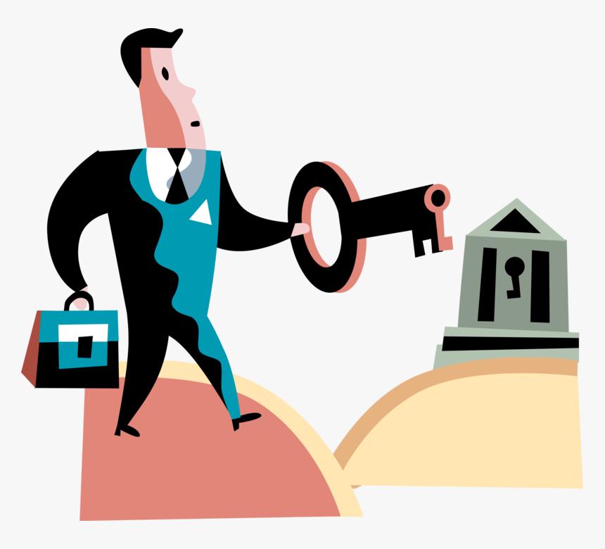 Vector Illustration Of Successful Businessman Holds Hd Png Download Kindpng