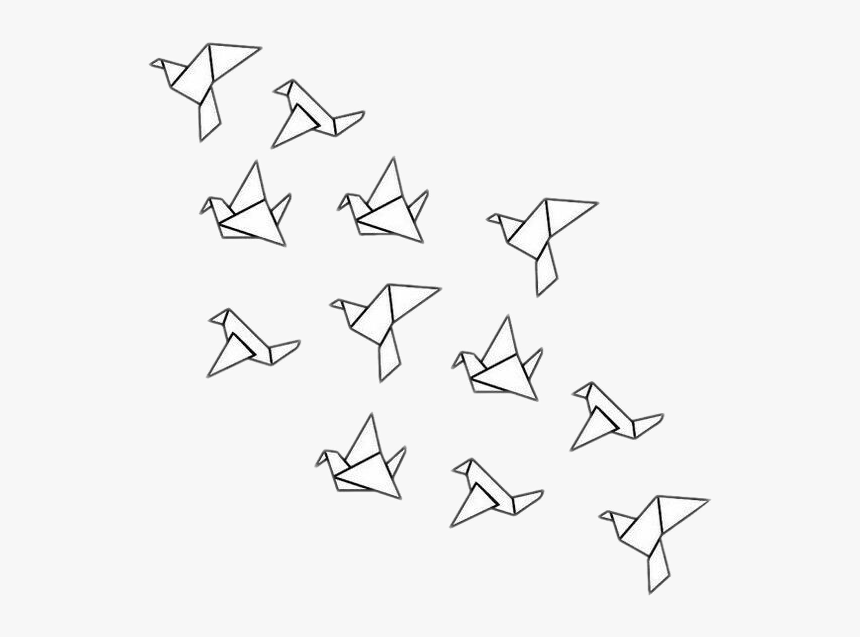 #origami #birds #flying #paper, HD Png Download, Free Download