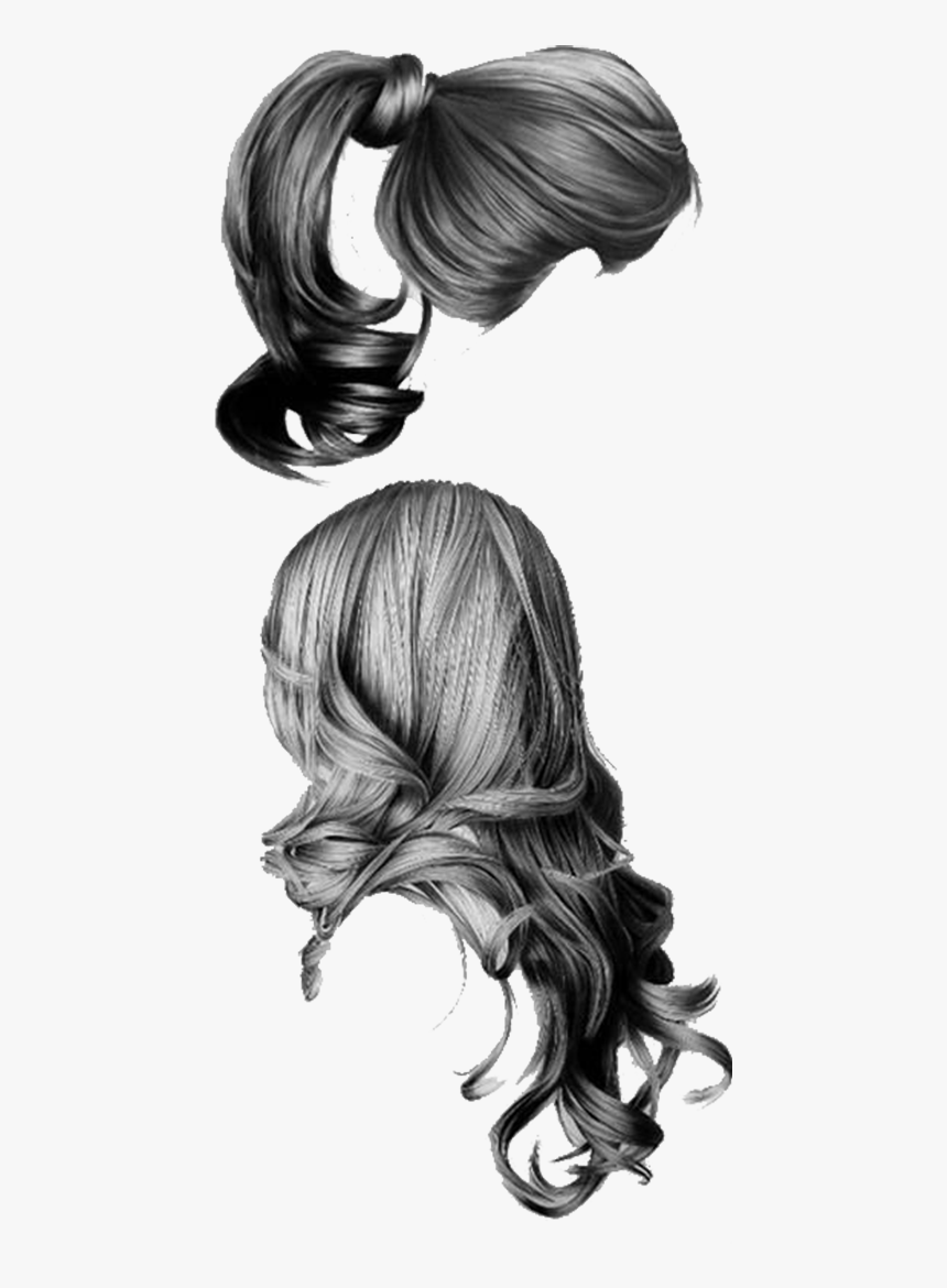 Pencil Hair Sketch Girls, HD Png Download, Free Download