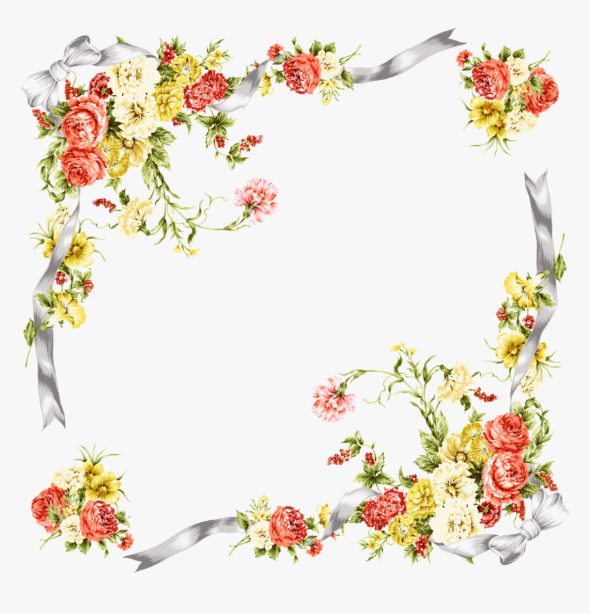 Molduras De Flores Png, Transparent Png, Free Download