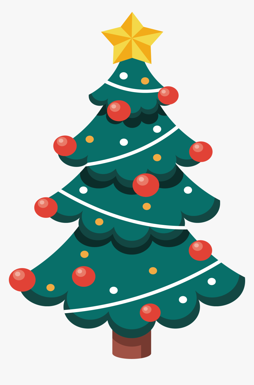 transparent cartoon christmas tree png christmas tree vector png png download kindpng transparent cartoon christmas tree png
