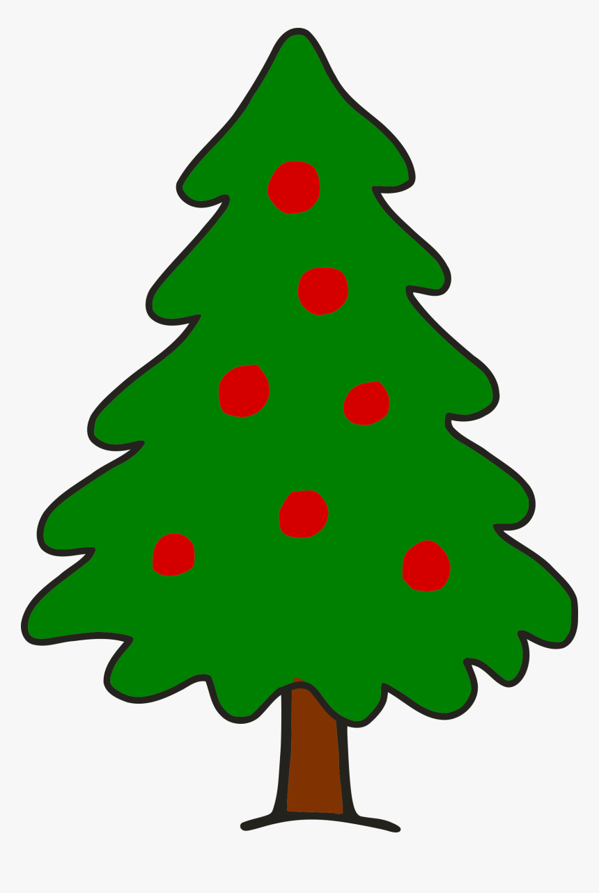 Png Free Library Big Image Png - Christmas Tree Simple Art, Transparent Png, Free Download