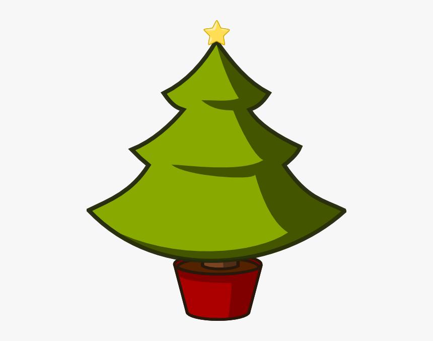 Christmas Tree Svg Clip Arts Simple Cartoon Christmas Tree Hd Png Download Kindpng
