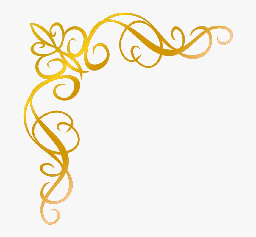 Arabesco Dourado Png Fundo Transparente Png Download Kindpng