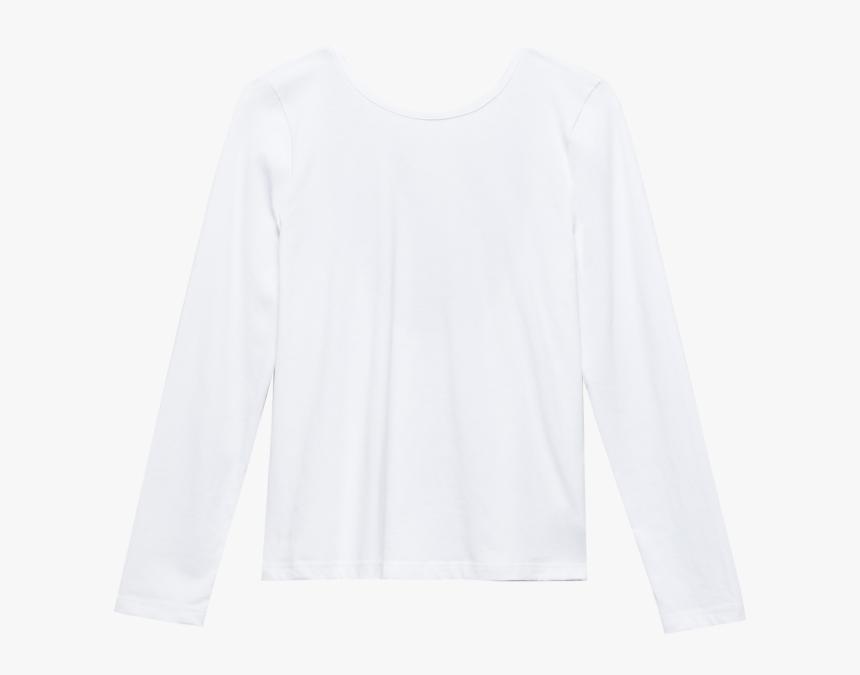 V Back Longsleeve White - Long-sleeved T-shirt, HD Png Download, Free Download