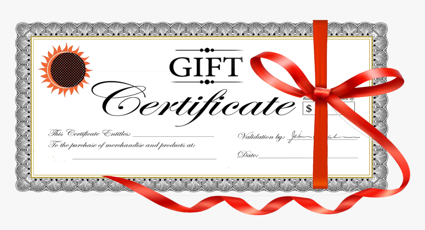 Transparent Gift Certificate Template Png - $20 Gift Certificate Template, Png Download, Free Download