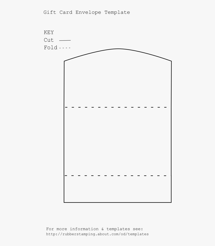 Transparent Gift Tag Template Png - Gift Card Envelope Template, Png Download, Free Download