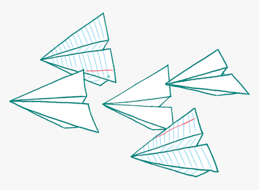 Origami Drawing Paper Plane Hd Png Download Kindpng