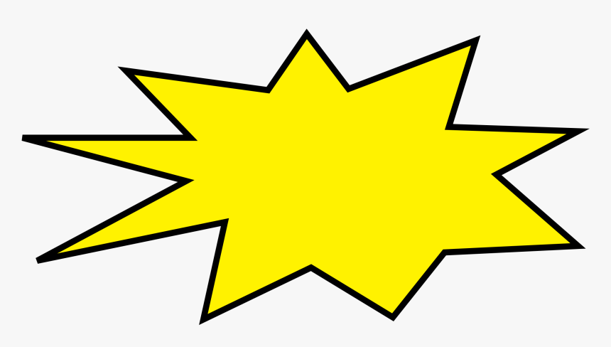 Rainbow Blubble Explosion Clipart - Yellow 6 Point Star, HD Png Download, Free Download