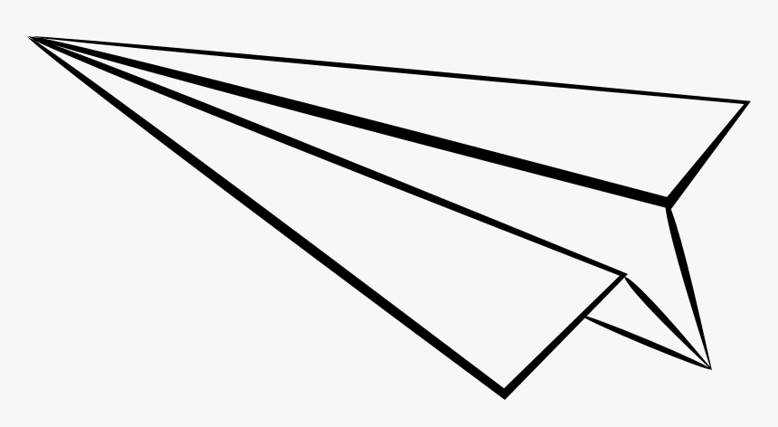 Paper Airplane Clipart Line Art Hd Png Download Kindpng