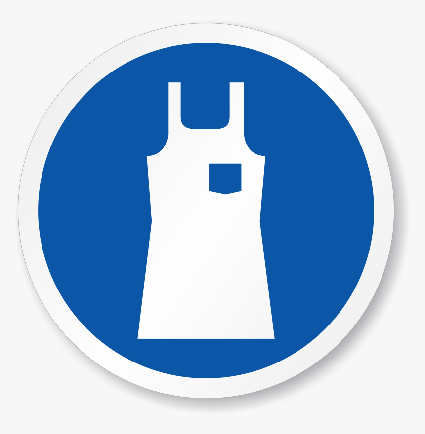 Wear Body Protection Apron Symbol - Apron Safety Sign, HD Png Download, Free Download