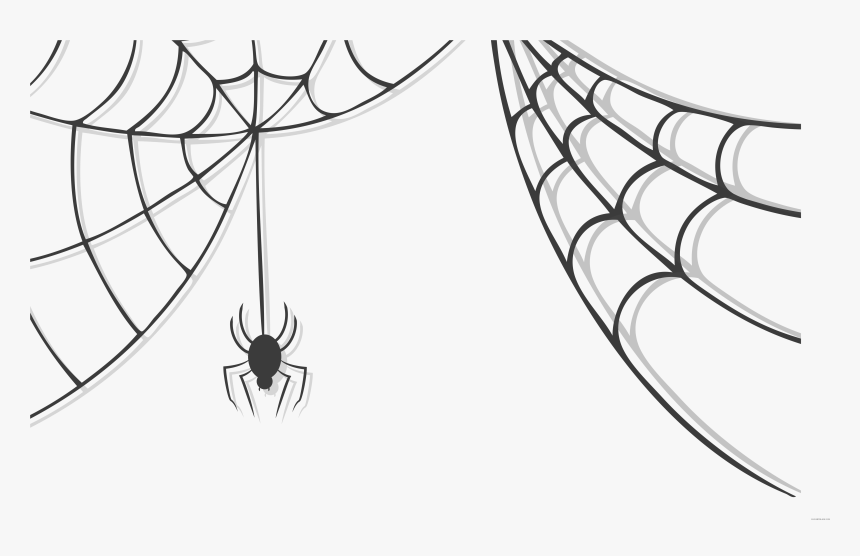 Clip Stock Cute Clipartblack Com Animal Black White - Spider Web No Background, HD Png Download, Free Download