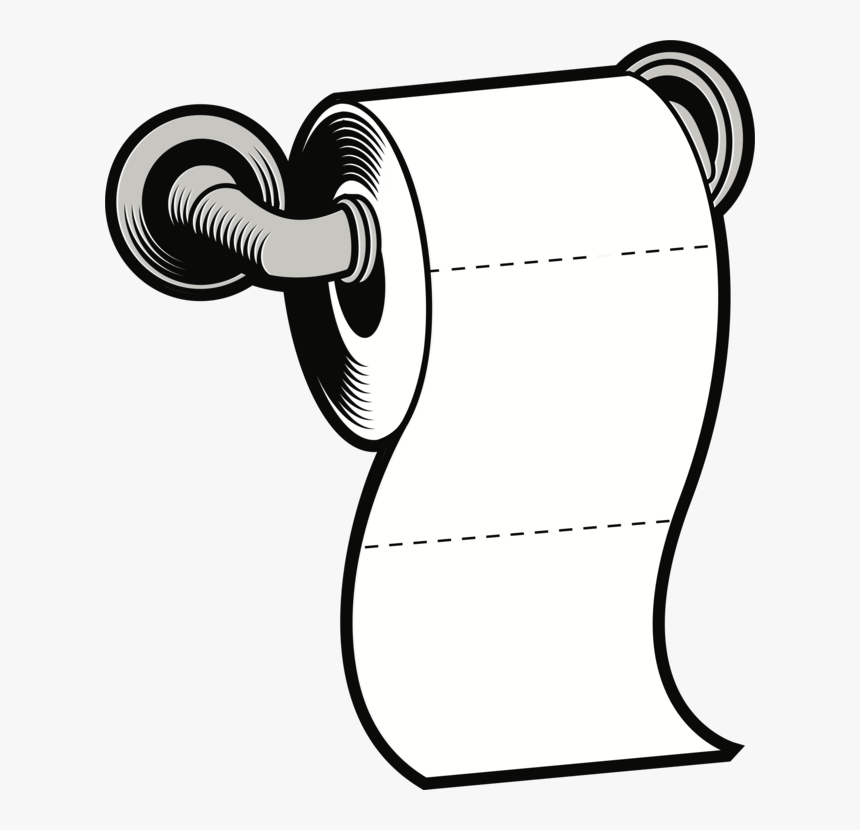 Toilet Paper Holders Facial Tissues Tissue Paper Cc0 - Toilet Paper Roll Clip Art, HD Png Download, Free Download