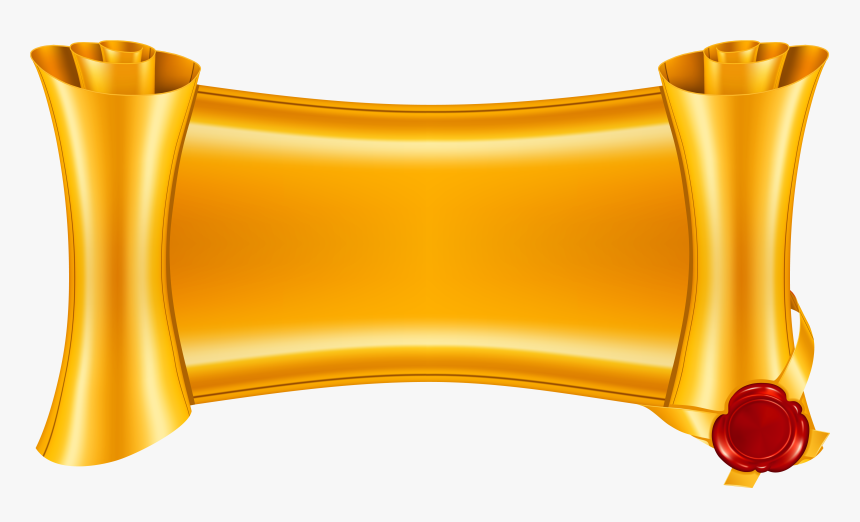 Gold Scroll Banner Png, Transparent Png, Free Download