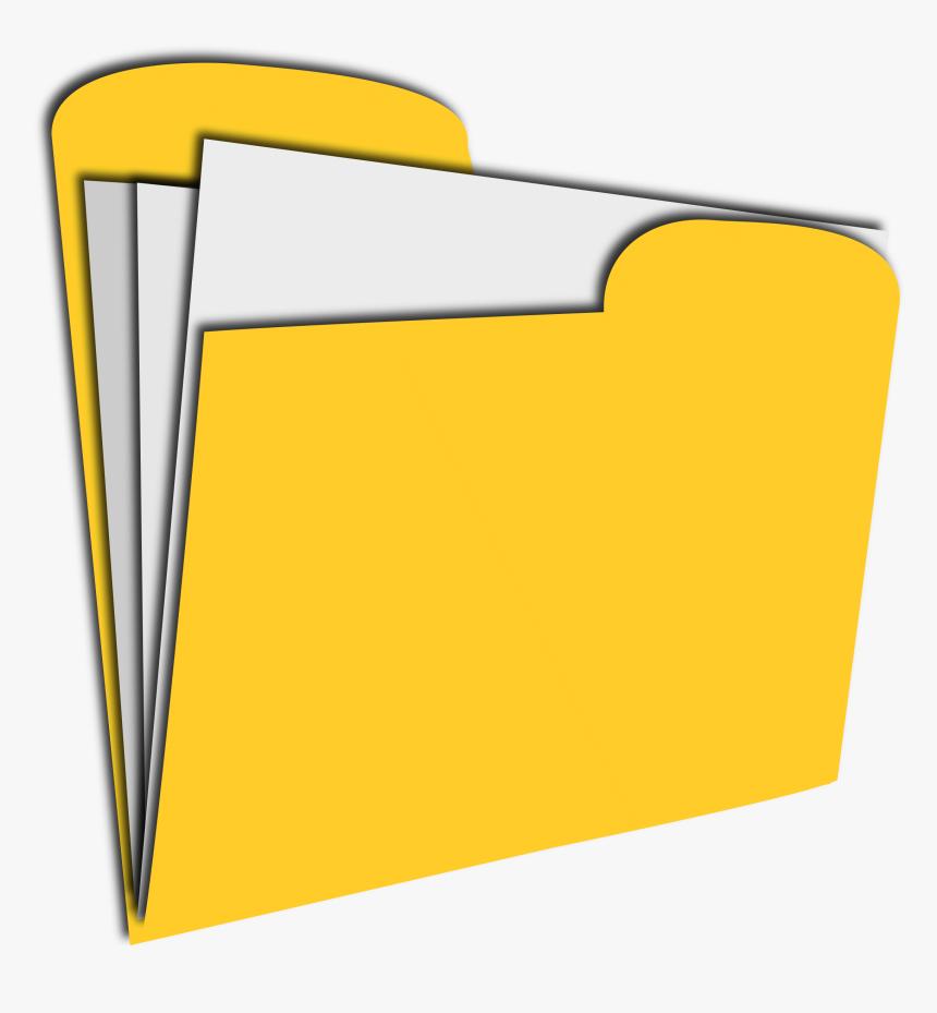 Paper Records Clipart - Clip Art Manila Folder, HD Png Download - kindpng