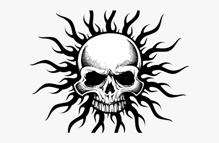 Tribal Skull Tattoos Png Transparent Images - Roblox T Shirt Skull, Png Download, Free Download
