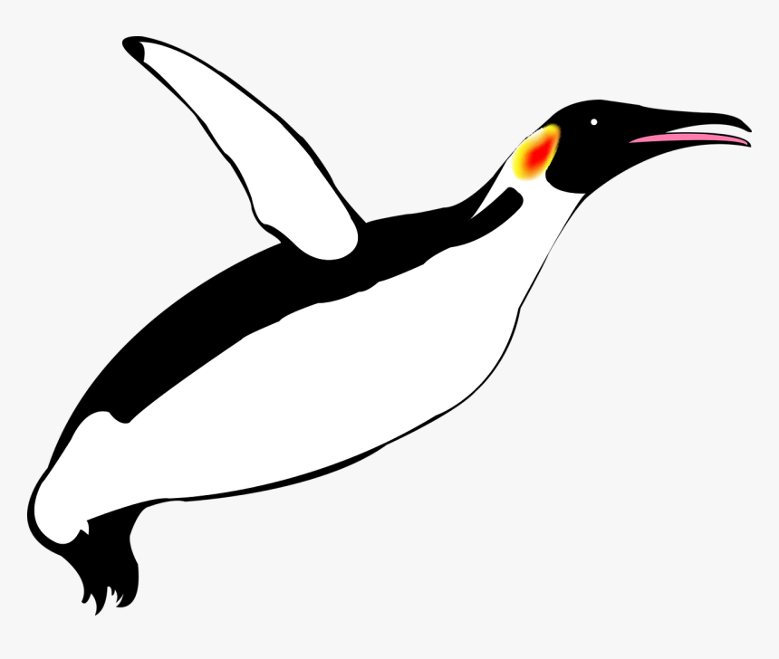 Penguin Flying Clip Art, HD Png Download, Free Download