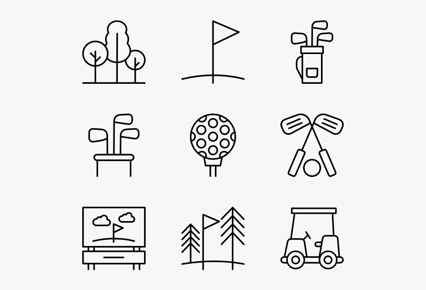 Clip Art Icons Free - Golf Icons, HD Png Download, Free Download