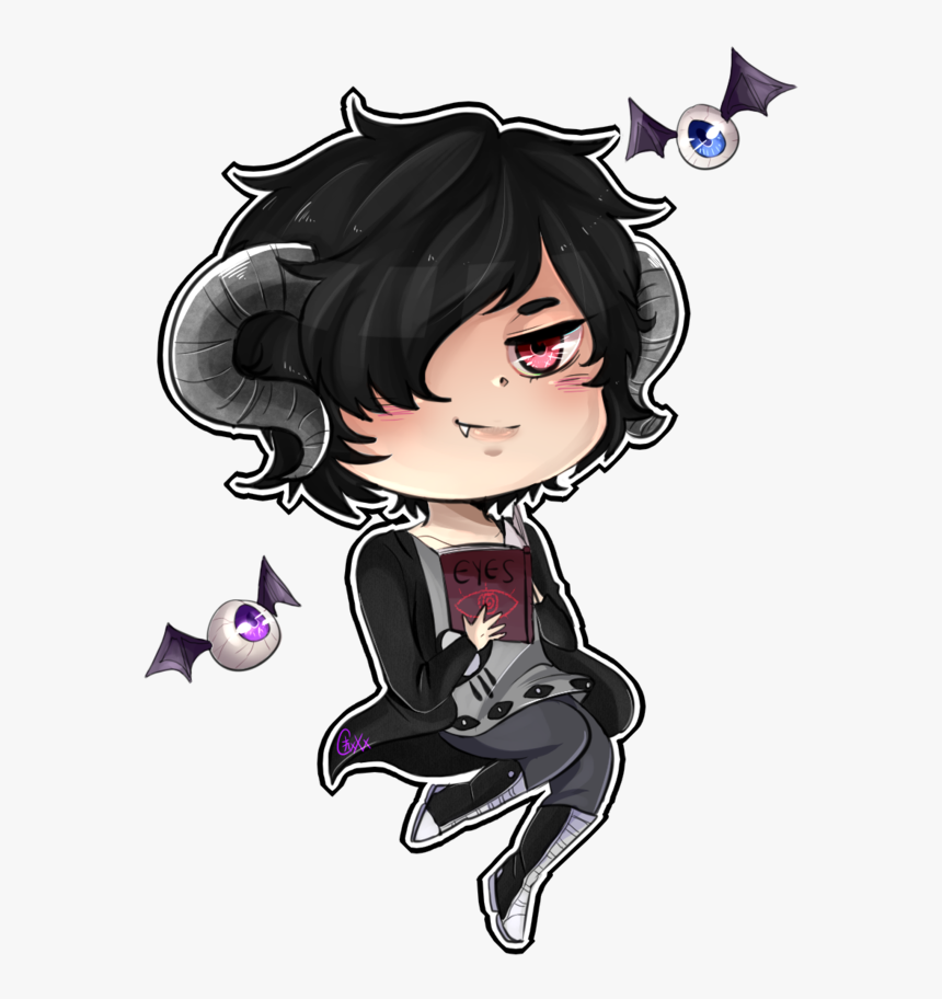 Transparent Male Anime Eyes Png - Demon Anime Boy With Black Hair, Png Download, Free Download