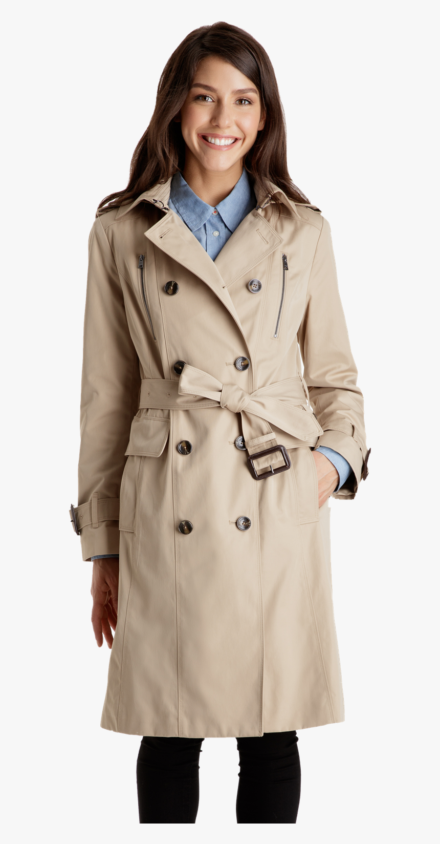 Classic Double Ted Trench Coat, Classic London Fog Trench Coat