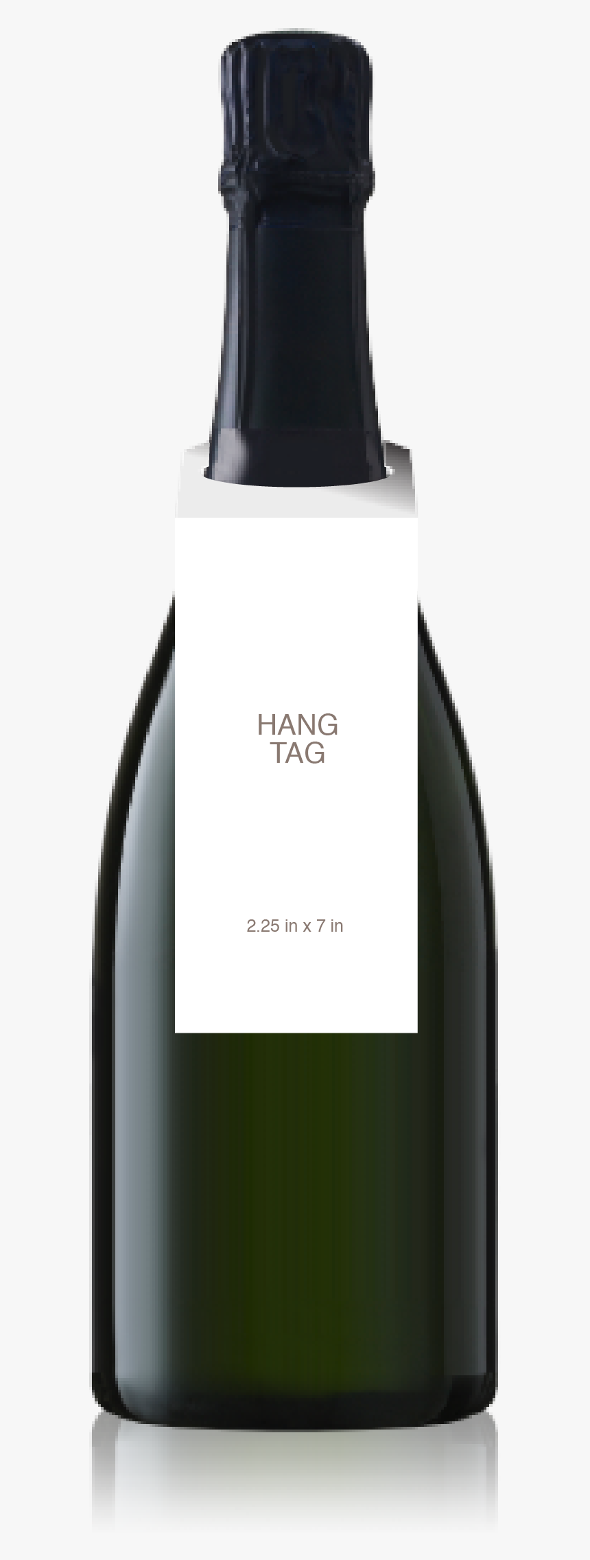 Champagne Bottle With A Blank Hangtag From Crushtag, HD Png Download, Free Download
