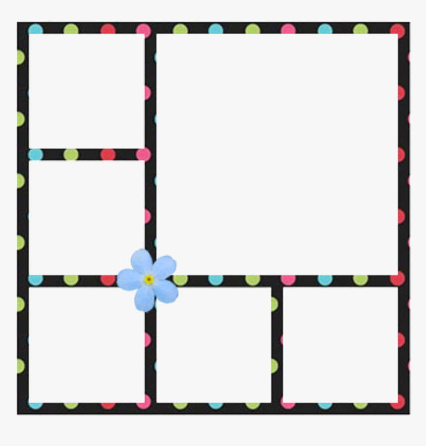 Collage Frame Polaroid Flower Colorful, HD Png Download, Free Download