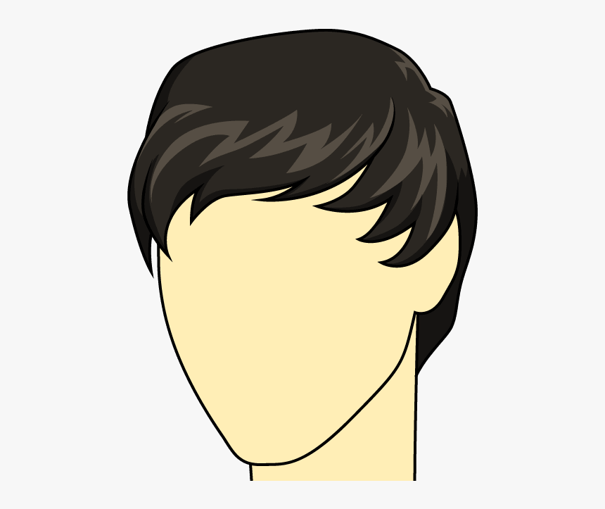 How To Draw Male Hairstyle, HD Png Download, Free Download