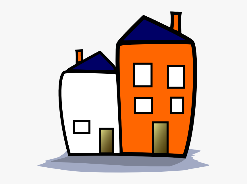 Cartoon Apartment Building, HD Png Download, Free Download