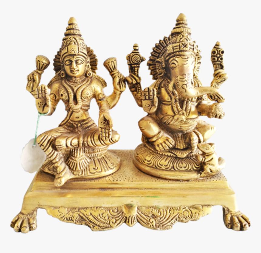 Decorative Religious God Lakshmi Ganesha Brass Statue, HD Png Download, Free Download