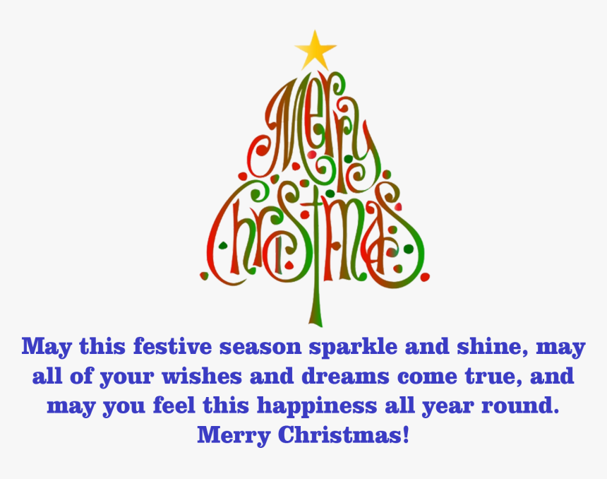 Merry Christmas Wishes Png Free Pic, Transparent Png, Free Download