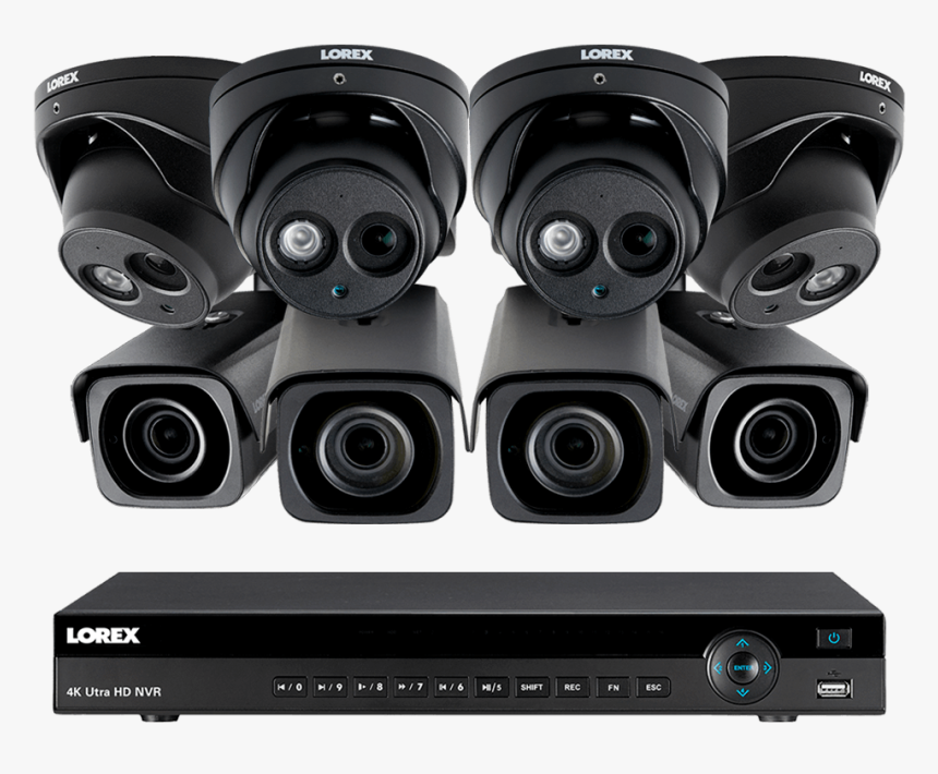 4k Ultra Hd Ip Nvr System, 4 Outdoor 4k Ip Bullet And, HD Png Download, Free Download