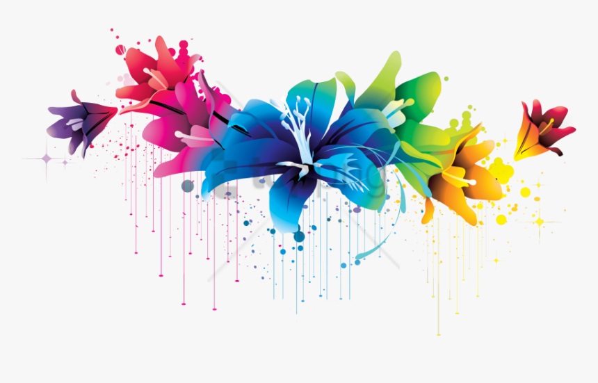 Free Png Colorful Floral Design Png Png Image With, Transparent Png, Free Download